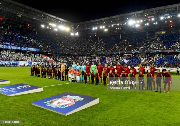 Liverpool Team of Liverpool during the UEFA Champions League group E match between RB Salzburg and Liverpool FC at Red Bull Arena on December 10,...