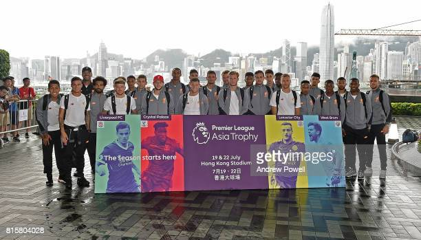 Liverpool Team pose for a photograph outside the Ritz Carlton hotel at the start of the PreSeason tour on July 17 2017 in Hong Kong Hong Kong