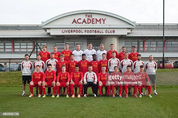 Liverpool U18 team group Back Row Kristof Polgar David Roberts Lloyd Jones Ryan Fulton Ryan Crump Andrew Firth Jordan Williams Connor Randall Joe...