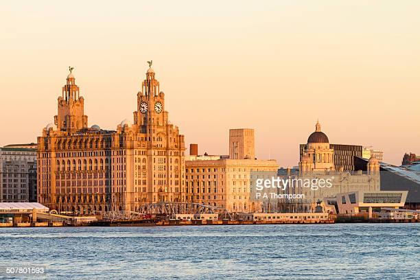 liverpool unesco waterfront skyline - liverpool england stock pictures, royalty-free photos & images