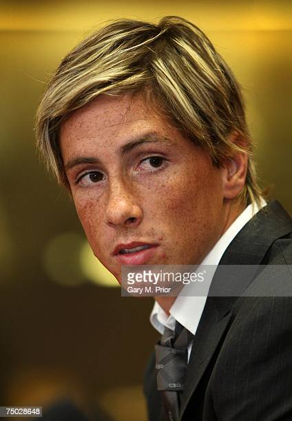 Liverpool unveil Fernando Torres at a press conference held at Anfield on July 4 2007 in Liverpool England