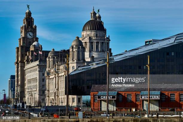liverpool waterfront, united kingdom - unesco world heritage site stock pictures, royalty-free photos & images