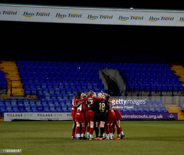 Liverpool Women before the FA Women's Continental League Cup game between Liverpool FC Women and Durham Women at Prenton Park on December 11, 2019 in...