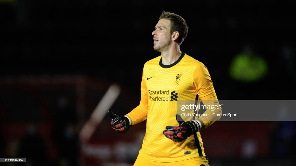 Liverpool's Adrian during the Carabao Cup Third Round match between... News  Photo - Getty Images