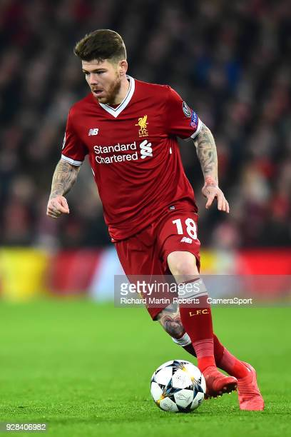 Liverpool's Alberto Moreno in action during the UEFA Champions League Round of 16 Second Leg match between Liverpool and FC Porto at Anfield on March...