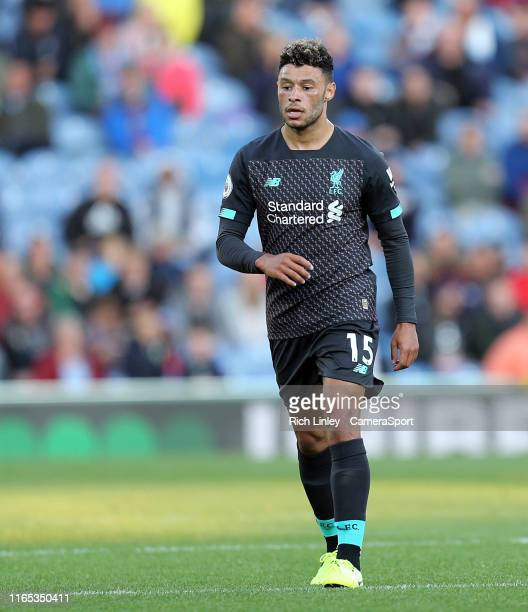 Liverpool's Alex OxladeChamberlain during the Premier League match between Burnley FC and Liverpool FC at Turf Moor on August 31 2019 in Burnley...