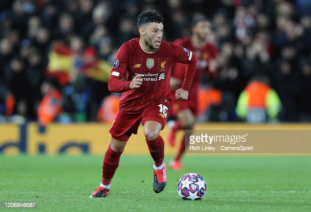 Liverpool's Alex OxladeChamberlain during the UEFA Champions League round of 16 second leg match between Liverpool FC and Atletico Madrid at Anfield...
