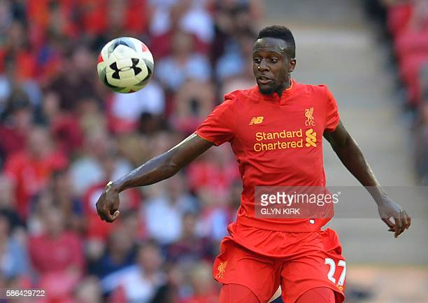 Liverpool's Belgian striker Divock Origi controls the ball during the preseason International Champions Cup football match between Spanish champions...