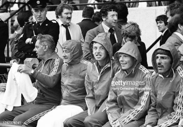 Liverpool's bench during the pre-season friendly match between Dundalk and Liverpool at Lansdowne Road on July 30, 1980 in Dublin, Republic of...