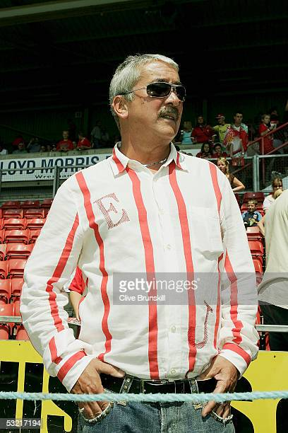 Liverpools chairman David Moores prior to the preseason friendly match between Wrexham and Liverpool at The Racecourse on July 9 2005 in Wrexham Wales