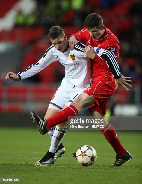 Liverpool's Cory Whelan and FC Basel's Cedric Itten