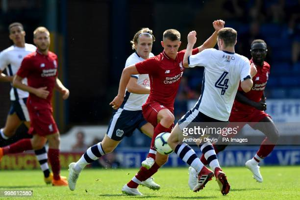 Liverpool's Curtis Jones in action during the preseason match at the Energy Check Stadium Bury