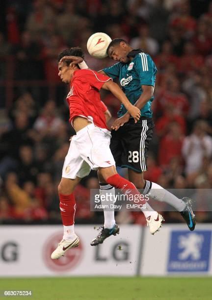Liverpool's Damien Plessis and Standard Liege's Igor De Camargo