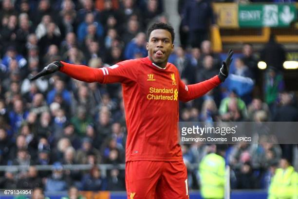 Liverpool's Daniel Sturridge celebrates scoring their third goal of the game