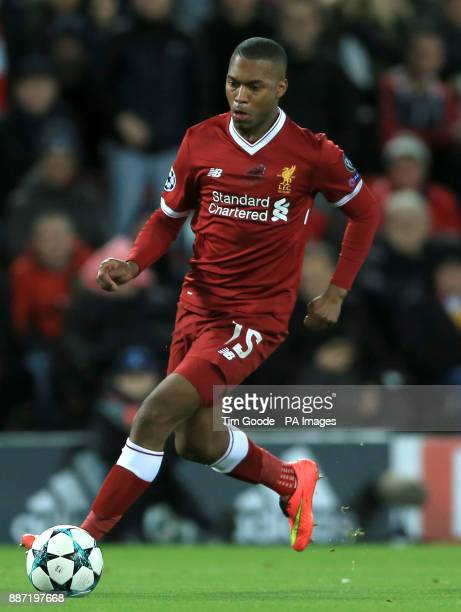 Liverpool's Daniel Sturridge during the UEFA Champions League Group E match at Anfield Liverpool PRESS ASSOCIATION Photo Picture date Wednesday...