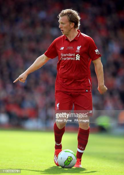 Liverpool's Dirk Kuyt during the Legends match at Anfield Stadium Liverpool