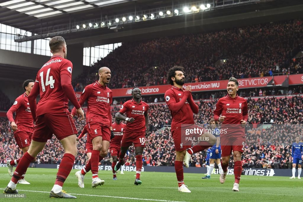 TOPSHOT-FBL-ENG-PR-LIVERPOOL-CHELSEA : News Photo