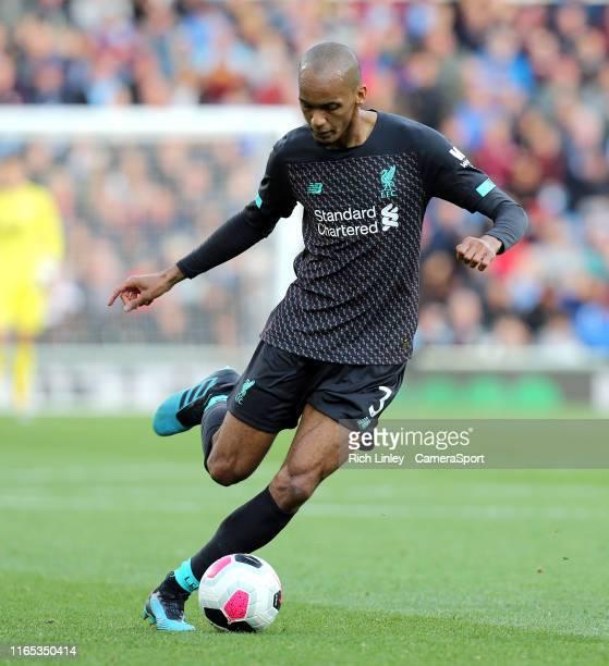 Liverpool's Fabinho during the Premier League match between Burnley FC and Liverpool FC at Turf Moor on August 31 2019 in Burnley United Kingdom