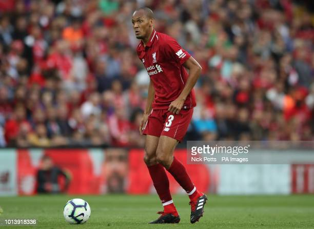 Liverpool's Fabinho during the preseason match at Anfield Liverpool