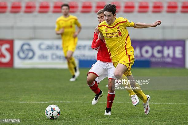 Liverpool's foward Harry Wilson in action during the UEFA Youth League match between SL Benfica and Liverpool FC on February 24 2015 in Seixal...