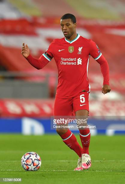 Liverpool's Georginio Wijnaldum during the UEFA Champions League Group D stage match between Liverpool FC and Atalanta BC at Anfield on November 25,...