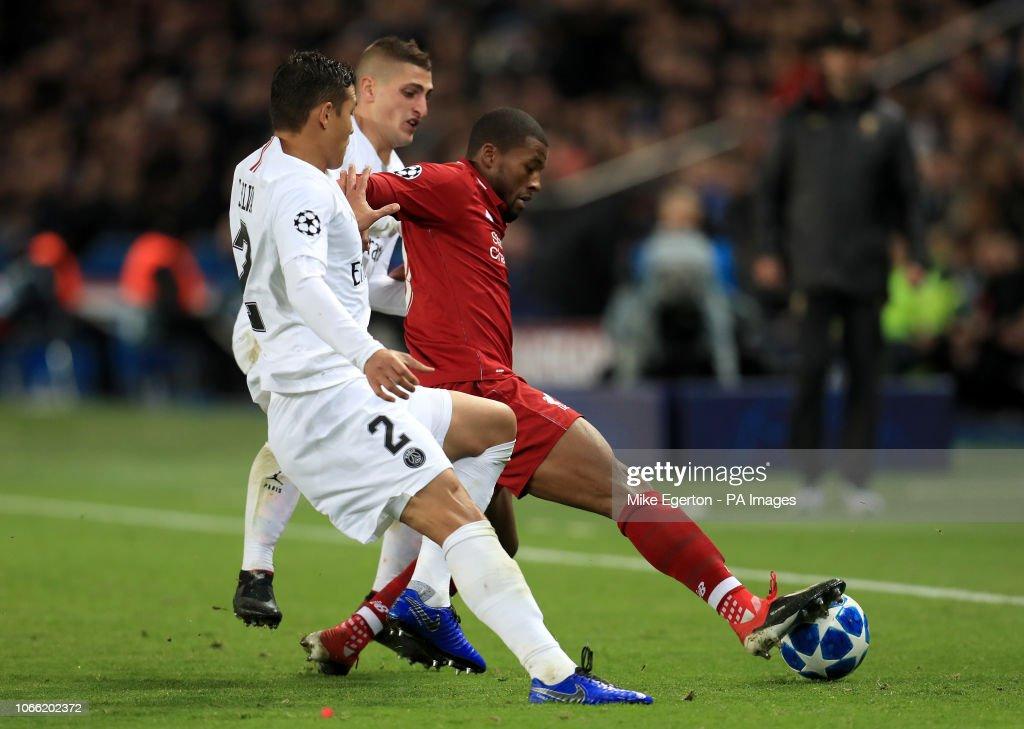 Paris Saint-Germain v Liverpool - UEFA Champions League - Group C - Parc Des Princes : News Photo