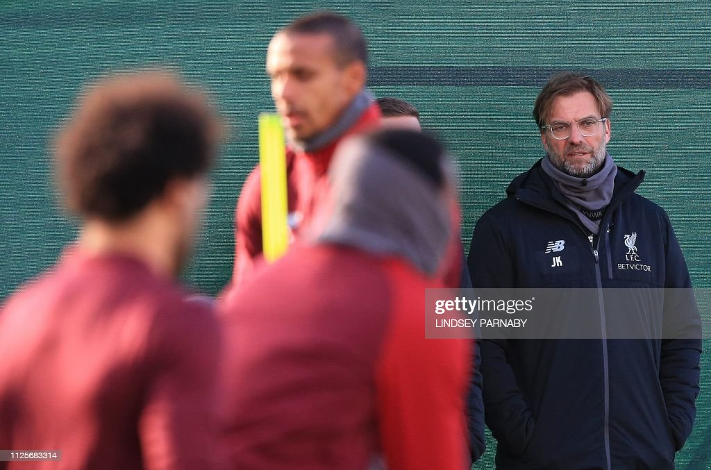 FBL-EUR-C1-LIVERPOOL-TRAINING : News Photo