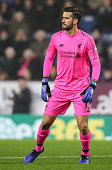 burnley england liverpools goalkeeper alisson becker