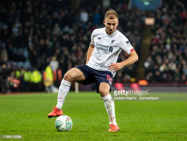 Liverpool's Herbie Kane during the Carabao Cup Quarter Final match between Aston Villa and Liverpool FC at Villa Park on December 17 2019 in...