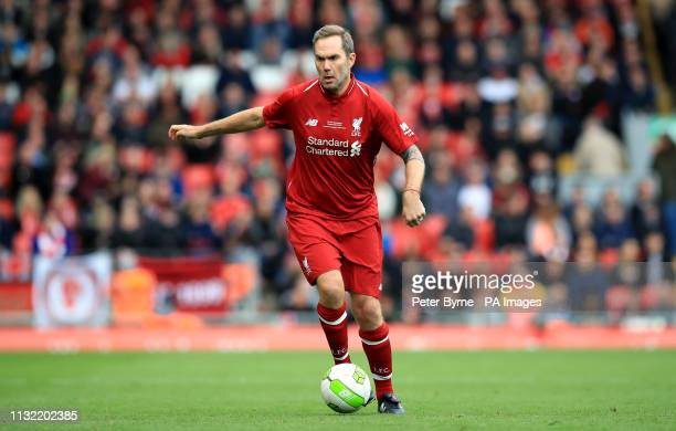Liverpool's Jason McAteer during the Legends match at Anfield Stadium Liverpool