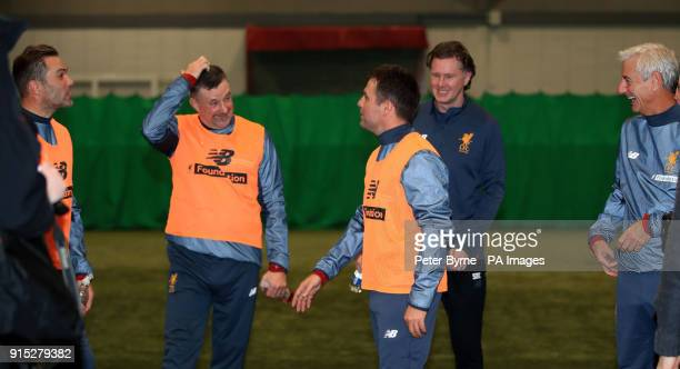Liverpool's Jason McAteer John Aldridge Michael Owen Steve McManaman and Ian Rush during a preview day for the Liverpool Legends charity match...