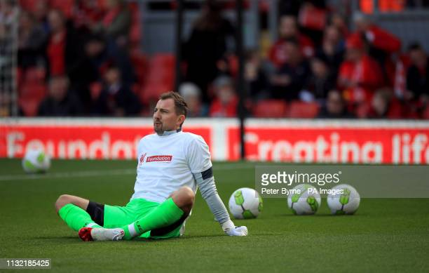 Liverpool's Jerzy Dudek during the Legends match at Anfield Stadium Liverpool