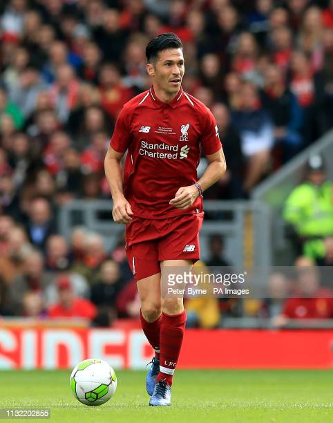 Liverpool's Luis Garcia during the Legends match at Anfield Stadium Liverpool