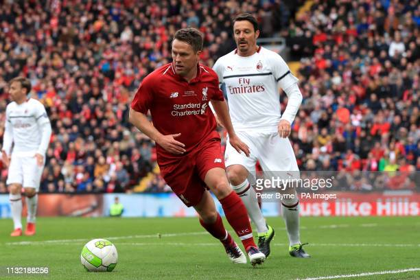 Liverpool's Michael Owen during the Legends match at Anfield Stadium Liverpool