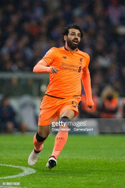 Liverpool's Mohamed Salah during the UEFA Champions League Round of 16 First Leg match between FC Porto and Liverpool at Estadio do Dragao on...