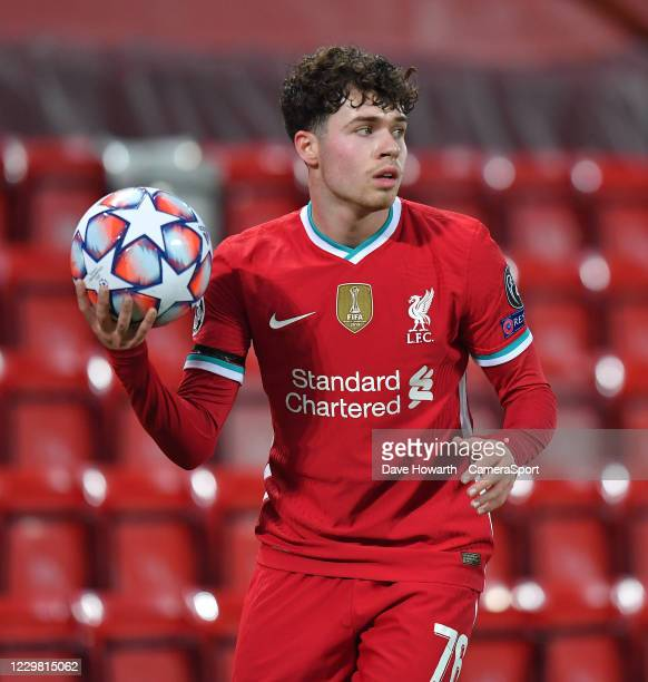 Liverpool's Neco Williams during the UEFA Champions League Group D stage match between Liverpool FC and Atalanta BC at Anfield on November 25, 2020...