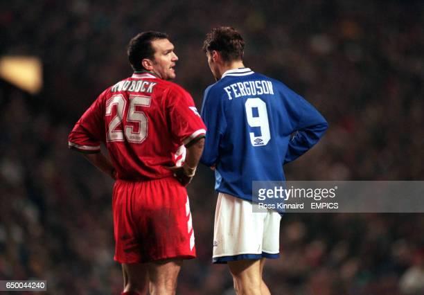 Liverpool's Neil Ruddock with Everton's Duncan Ferguson