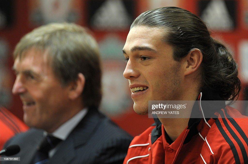 Liverpool's new signing English forward : News Photo