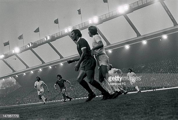 Liverpool's new signing Ray Kennedy in action during the English First Division match between Liverpool and West Ham United held on November 23 1974...