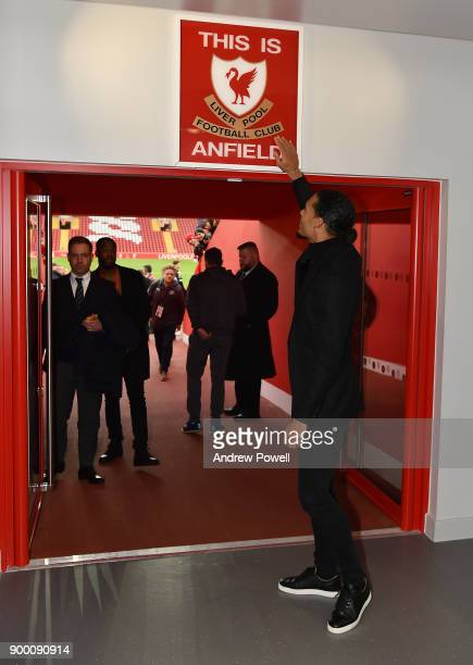Liverpool's new signing Virgil van Dijk pictured at Anfield on December 30 2017 in Liverpool England