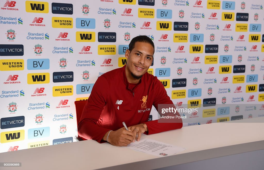Liverpool's new signing Virgil van Dijk pictured at Melwood Training Ground on December 31, 2017 in Liverpool, England.