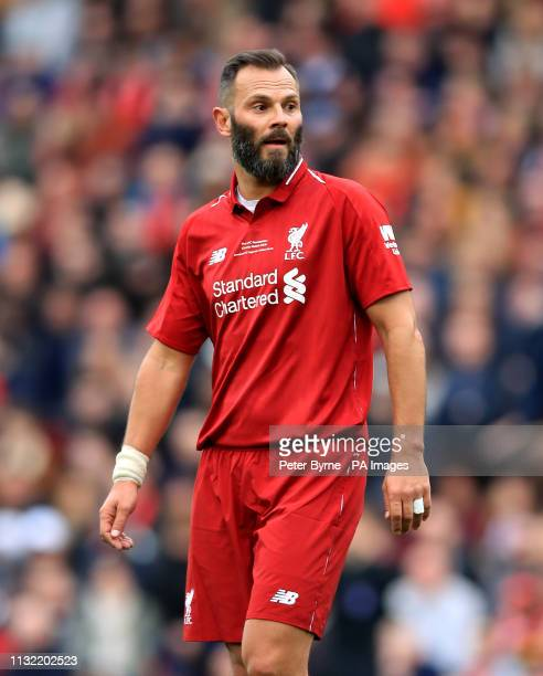 Liverpool's Patrik Berger during the Legends match at Anfield Stadium Liverpool