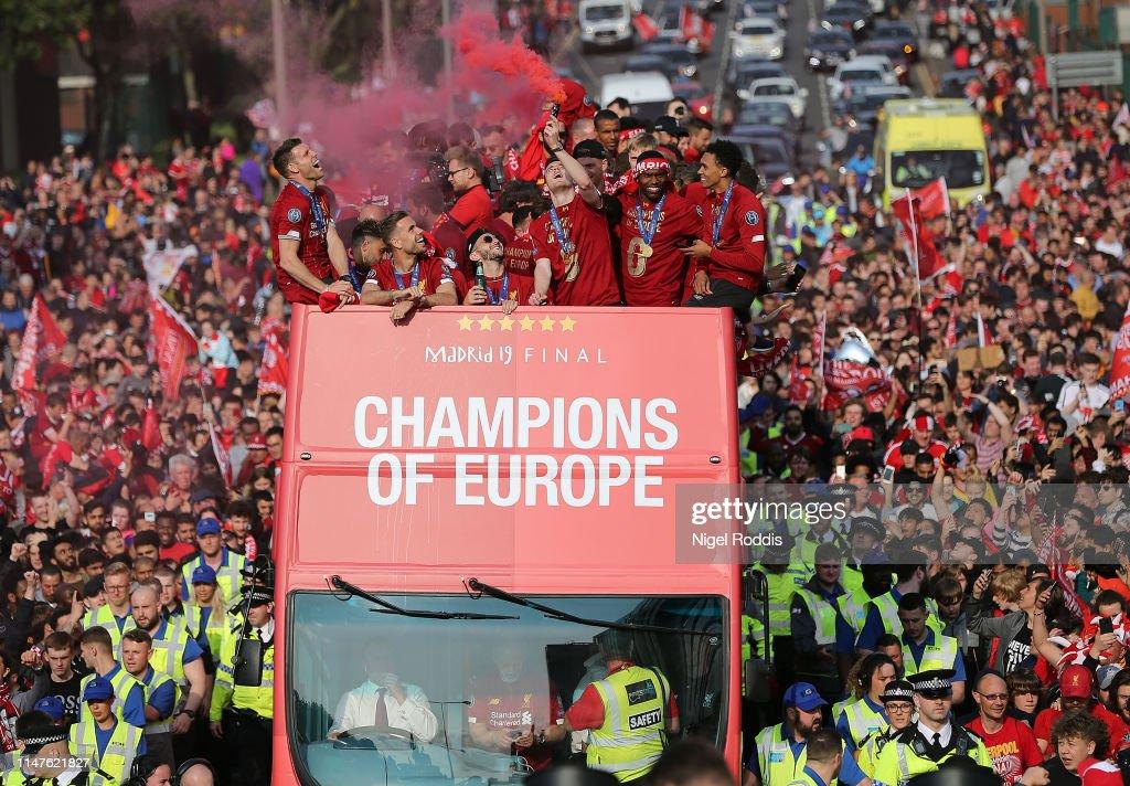 Liverpool Parade To Celebrate Winning UEFA Champions League : News Photo