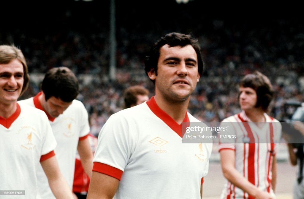 Liverpool's Ray Kennedy walks out at Wembley before the match