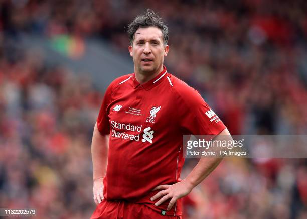 Liverpool's Robbie Fowler during the Legends match at Anfield Stadium Liverpool