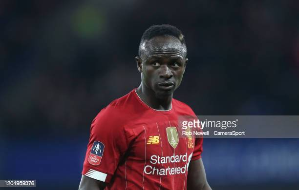 Liverpool's Sadio Mane during the FA Cup Fifth Round match between Chelsea and Liverpool at Stamford Bridge on March 3 2020 in London England
