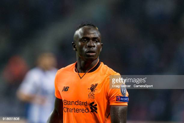 Liverpool's Sadio Mane during the UEFA Champions League Round of 16 First Leg match between FC Porto and Liverpool at Estadio do Dragao on February...