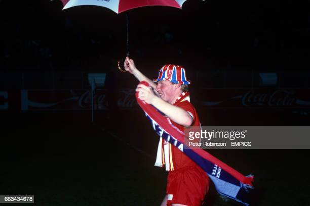 Liverpool's Sammy Lee celebrates winning the European Cup