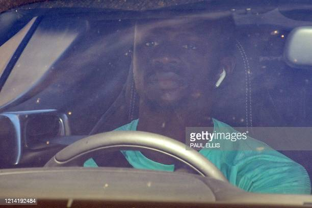 Liverpool's Senegalese striker Sadio Mane arrives at Melwood in Liverpool north west England to resume training on May 20 as training resumes after...