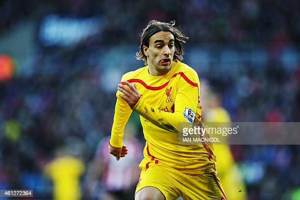 Liverpool's Serbian midfielder Lazar Markovic plays during the English Premier League football match between Sunderland and Liverpool at The Stadium...